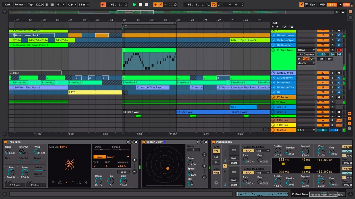 Ableton Live Session Screen