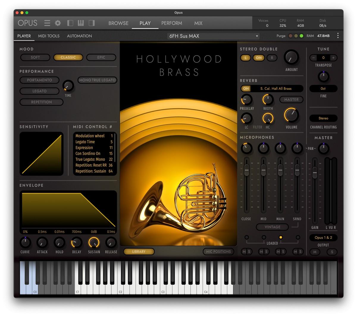 HW Opus Brass GUI
