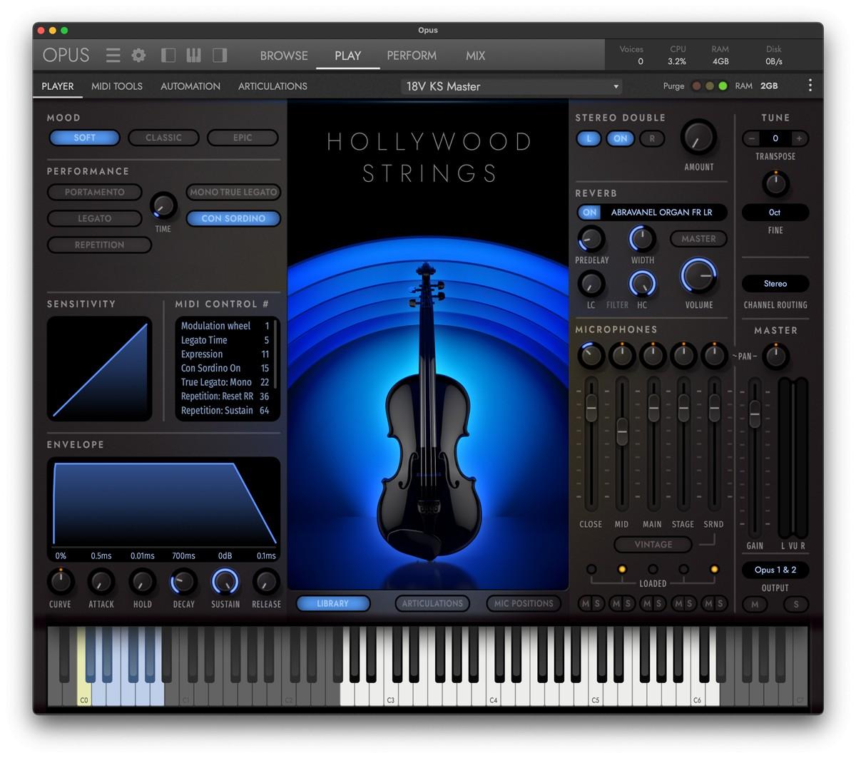 HW Opus Strings GUI Screen