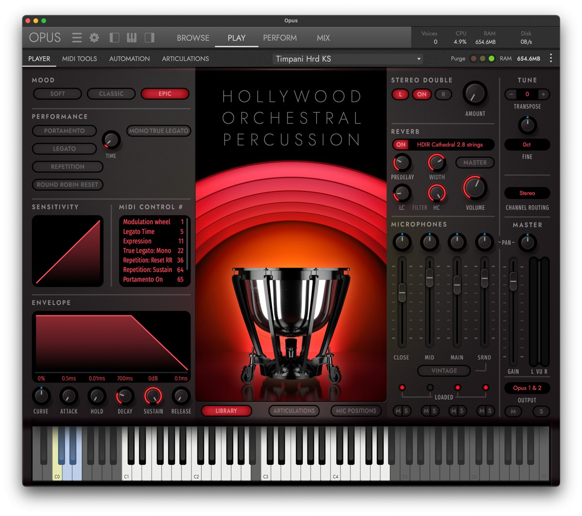 HW Opus Percussion Gui Screen