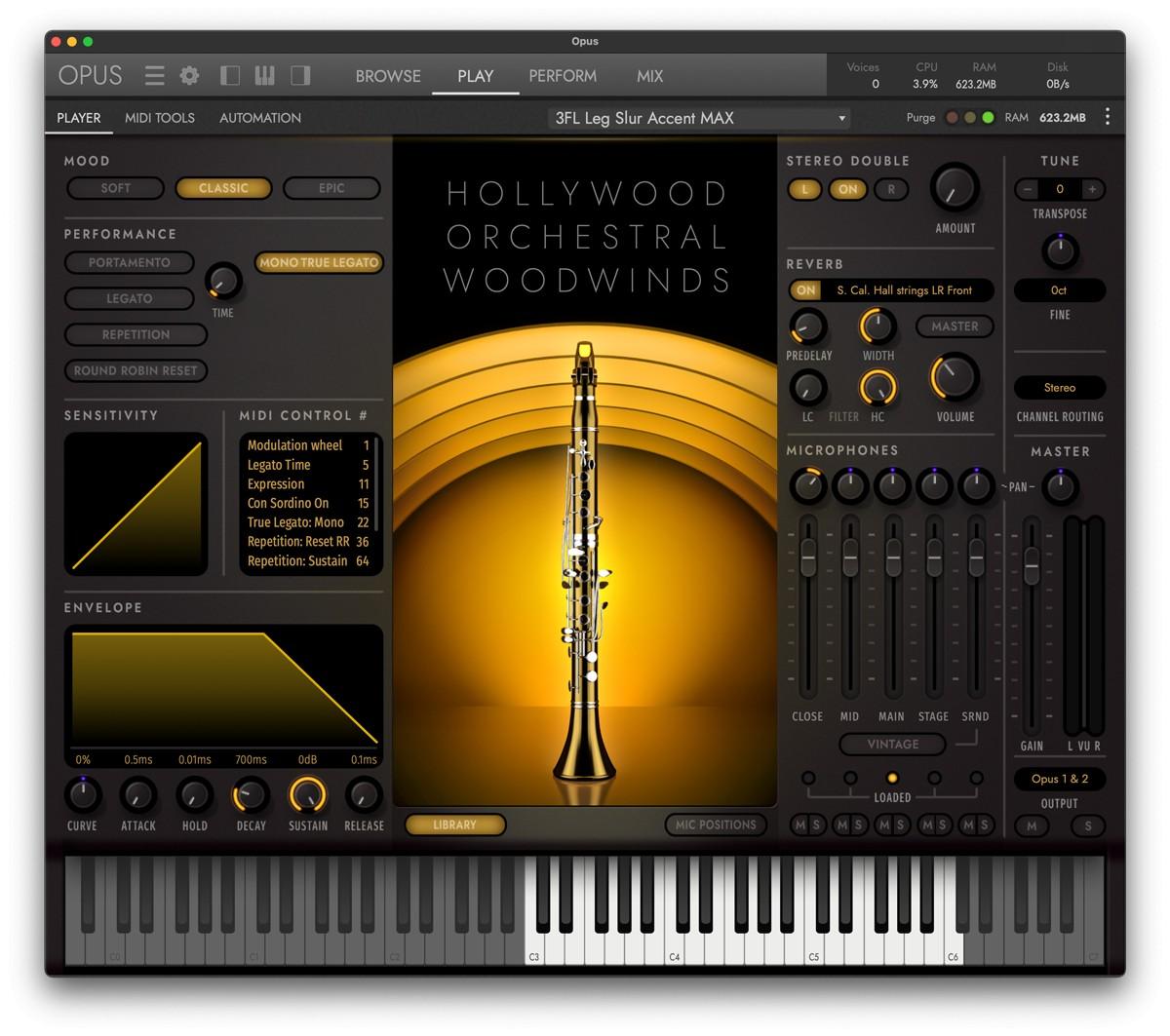 HW Opus Winds GUI Screen
