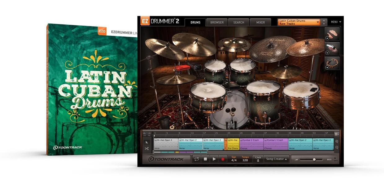 Latin Cuban Drums Box and Screen