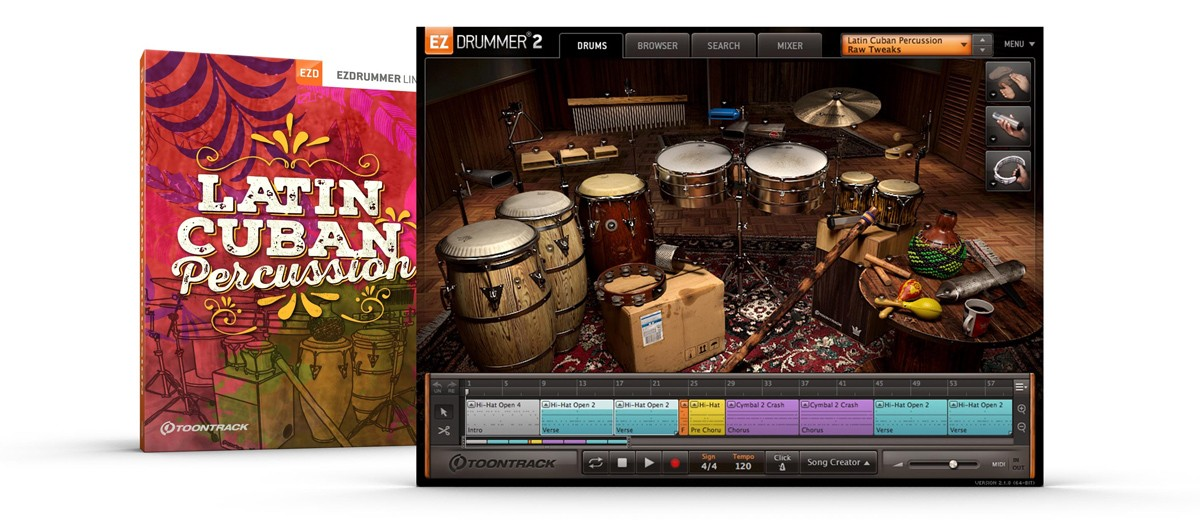 Latin Cuban Percussion EZX Box and Screen