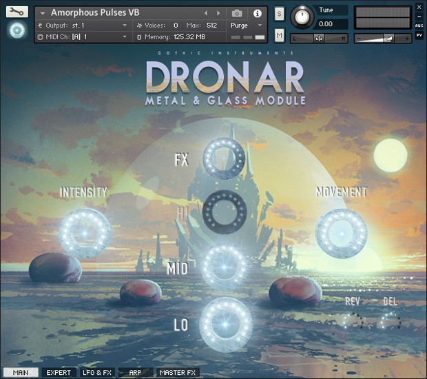 Dronar Metal and Glass GUI
