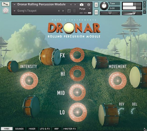 Rolling Percussion GUI