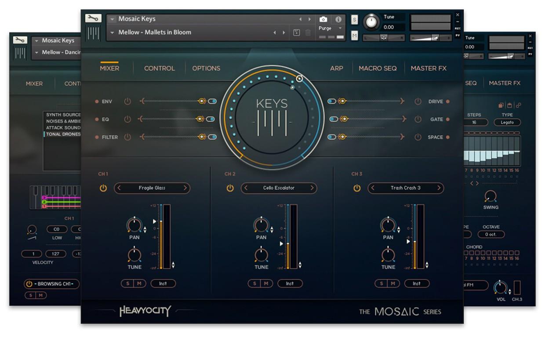 Mosaic Keys GUI Art