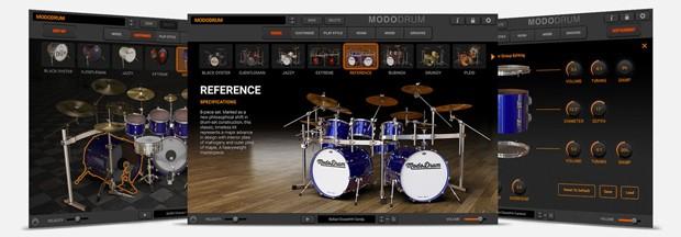 Modo Drum GUI art
