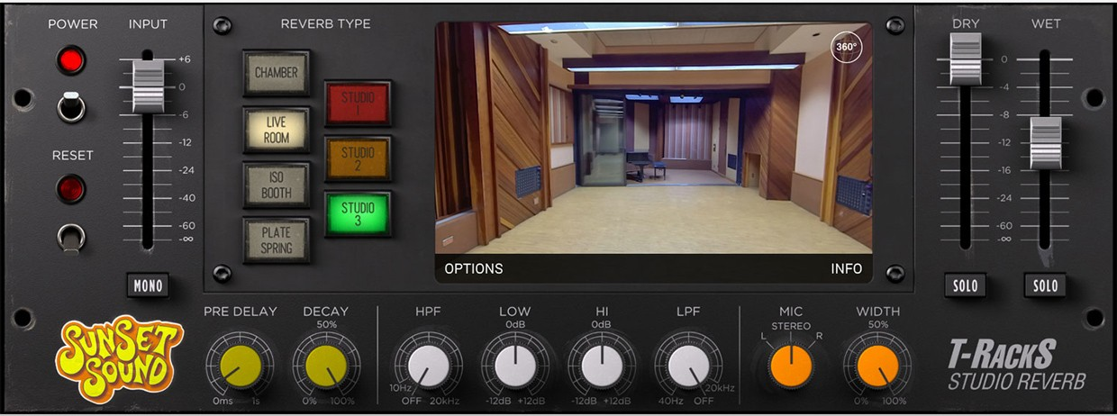 Sunset Sound Reverb GUI