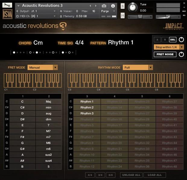 Acoustic Revolutions GUI Screen