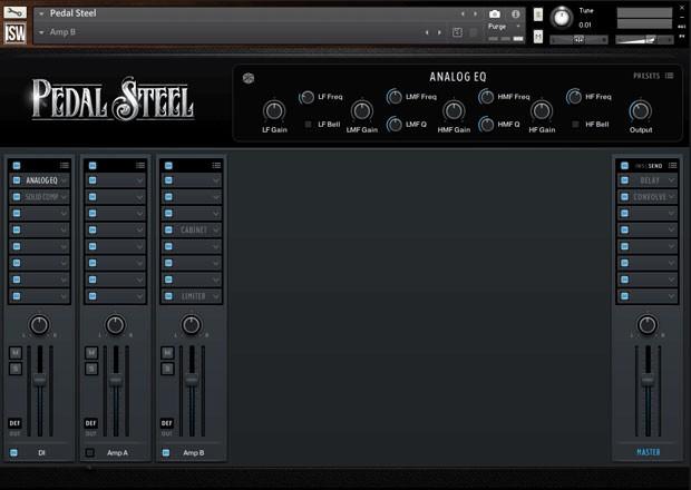 Pedal Steel Console GUI 3