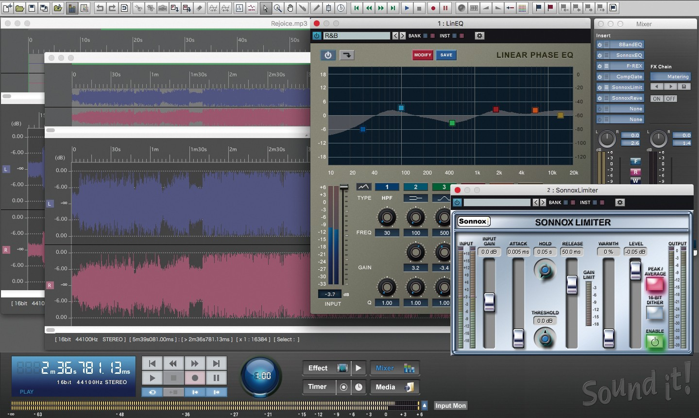 Sound it Pro Mac GUI Screen