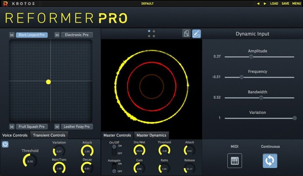 Reformer Pro GUI Screen
