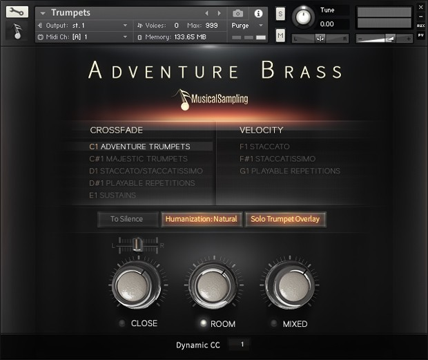 Adventure Brass GUI Screen