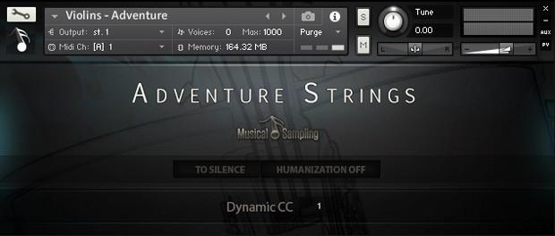 Adventure Strings GUI