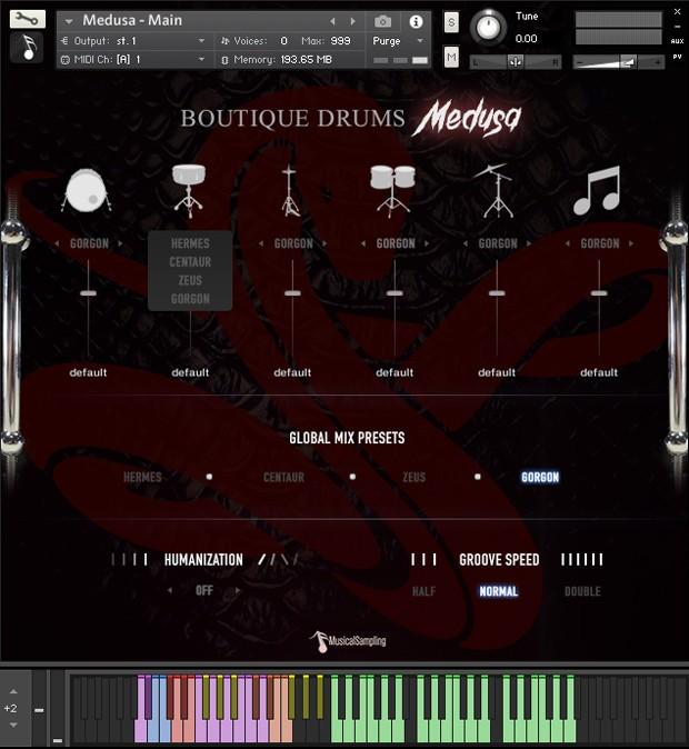 Boutique Drums Medusa GUI