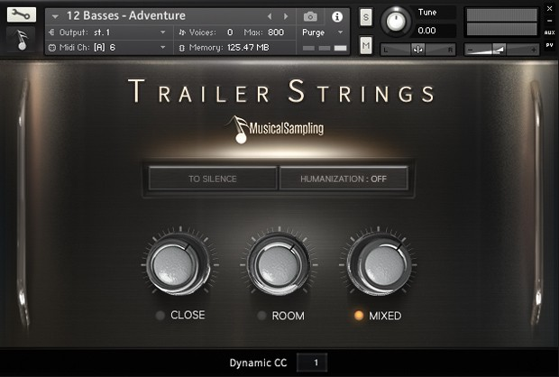 Trailer Strings Main GUI