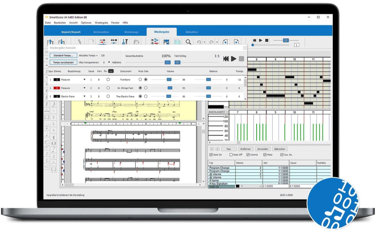 SmartScore 64 MIDI Edition GUI