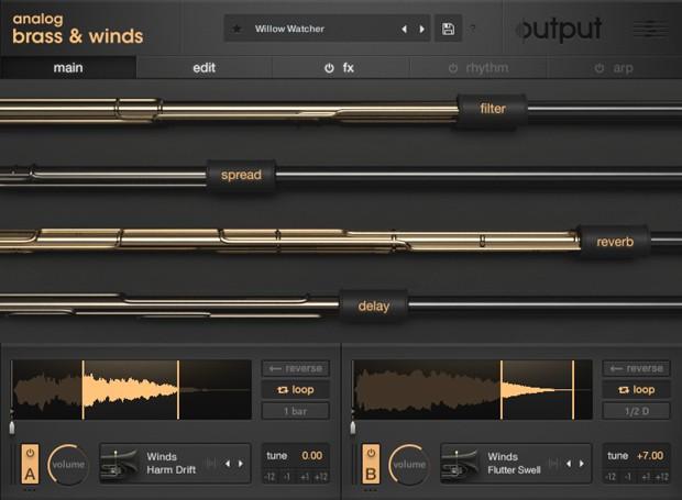 Analog Brass and Winds Main GUI Screen
