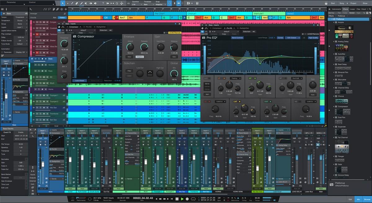 Studio One 5 Pro Main Screen