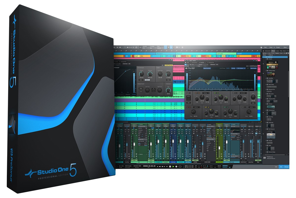 Studio One 5 Pro Box and Screen