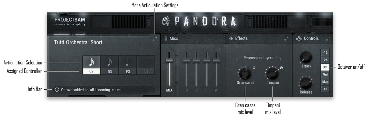 Articulations GUI with Captions
