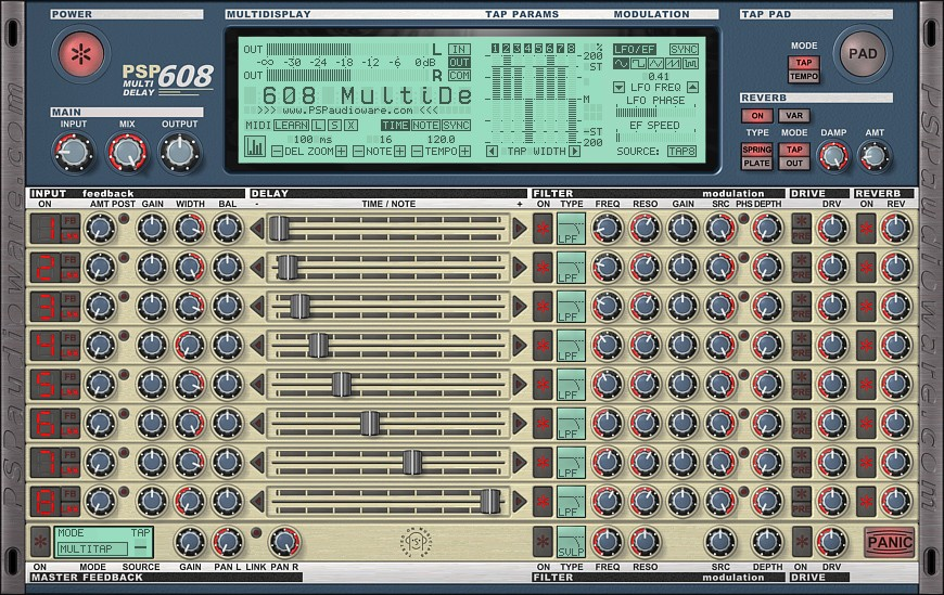 PSP608MD GUI