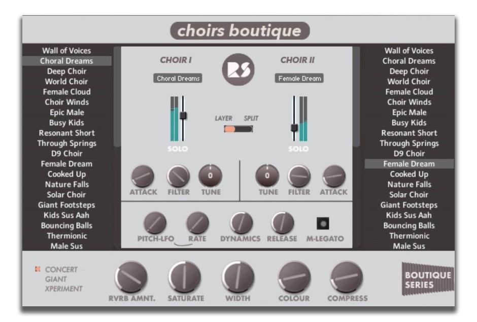 Choirs Boutique GUI