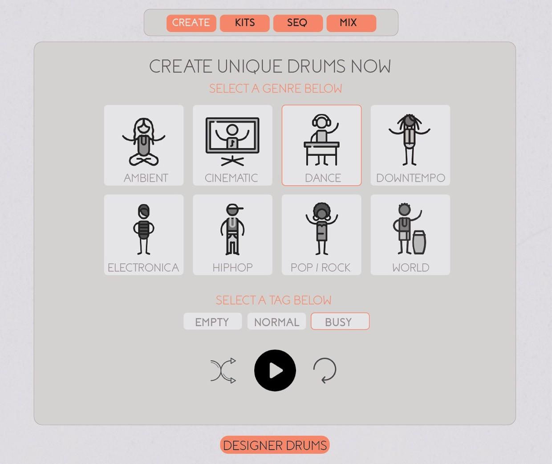 Designer Drums V2 GUI