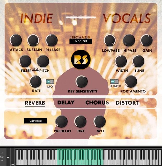 Indie Vocals GUI Screen