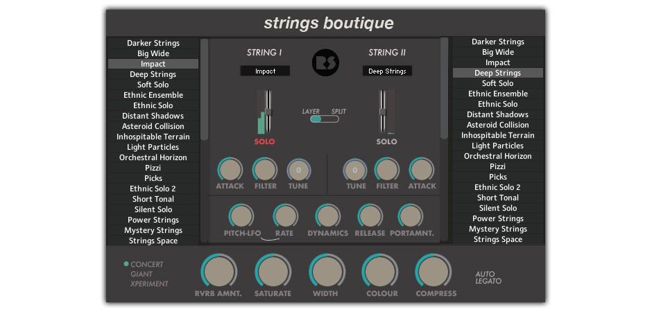Strings Boutique GUI