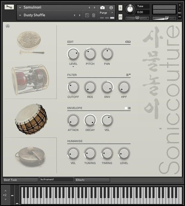 Samulnori Instrument GUI