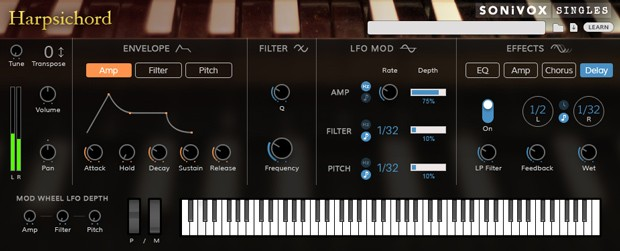 Harpsichord GUI Header