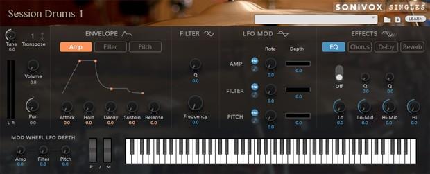 Session Drums 1 GUI Header