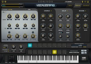 Vocalizer Pro Effects GUI Screen