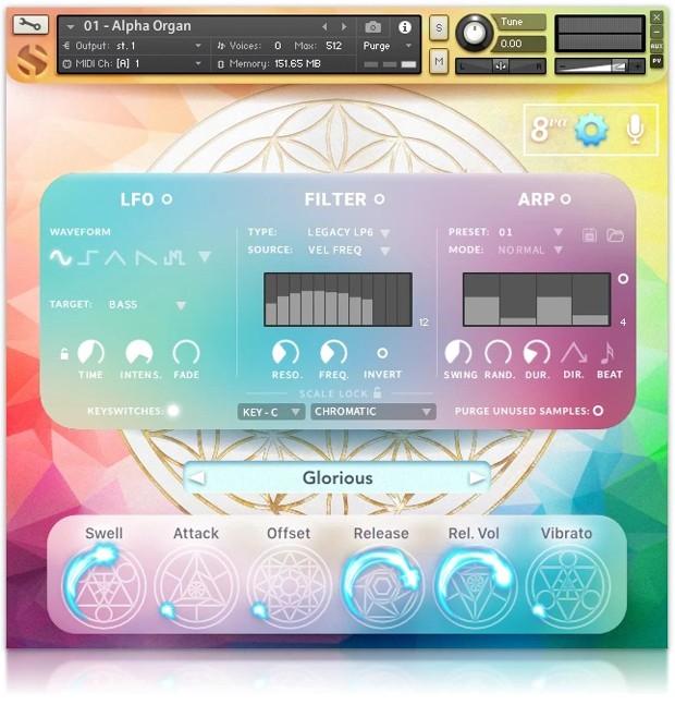 Alpha Organ GUI Screen 2