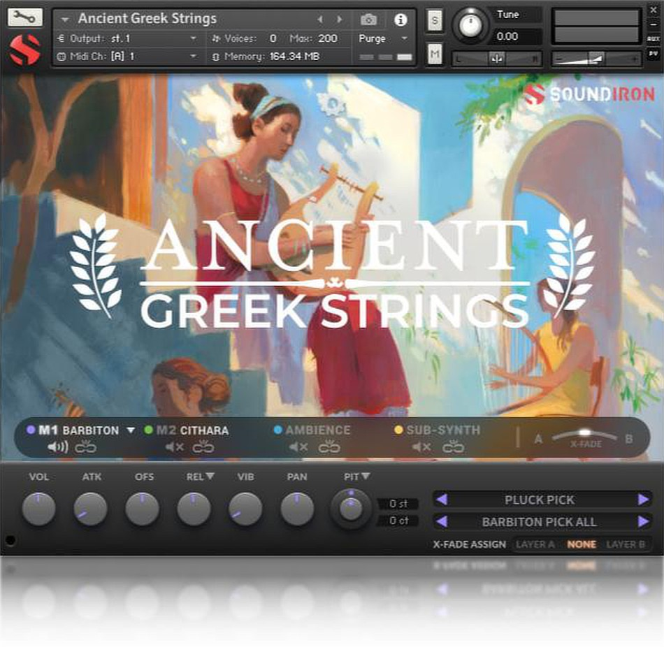 Ancient Greek Strings gui