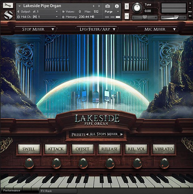 Lakeside Pipe Organ GUI