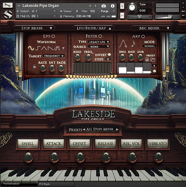 Lakeside Pipe Organ GUI 2