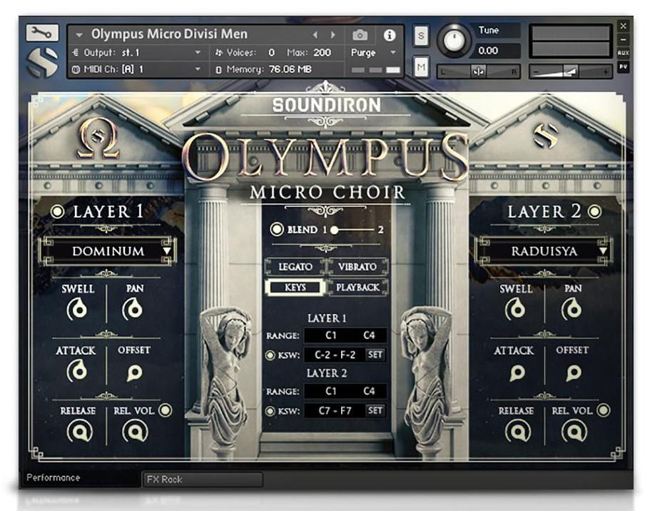 Olympus Choir Micro GUI