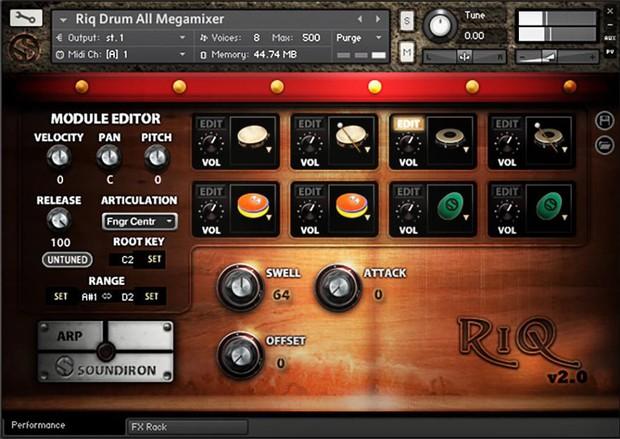 Riq Drum GUI
