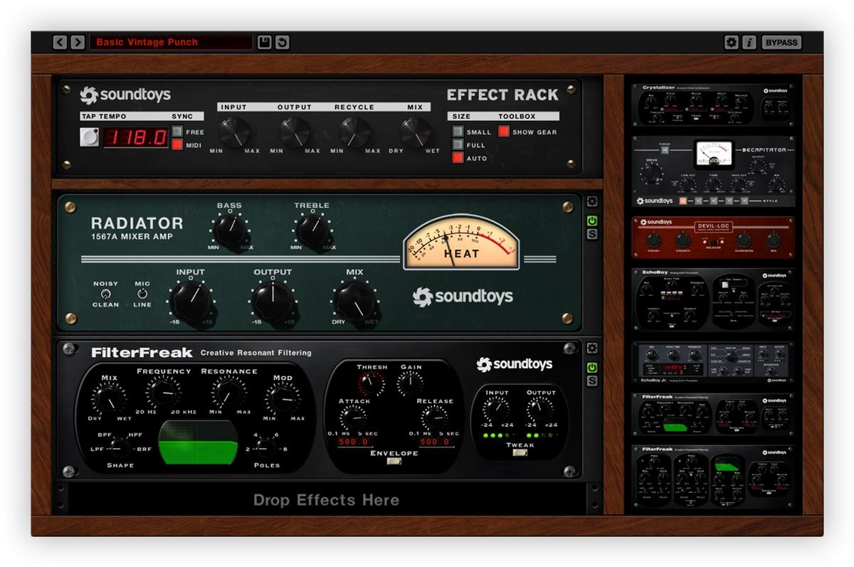 Soundtoys Effect Rack GUI