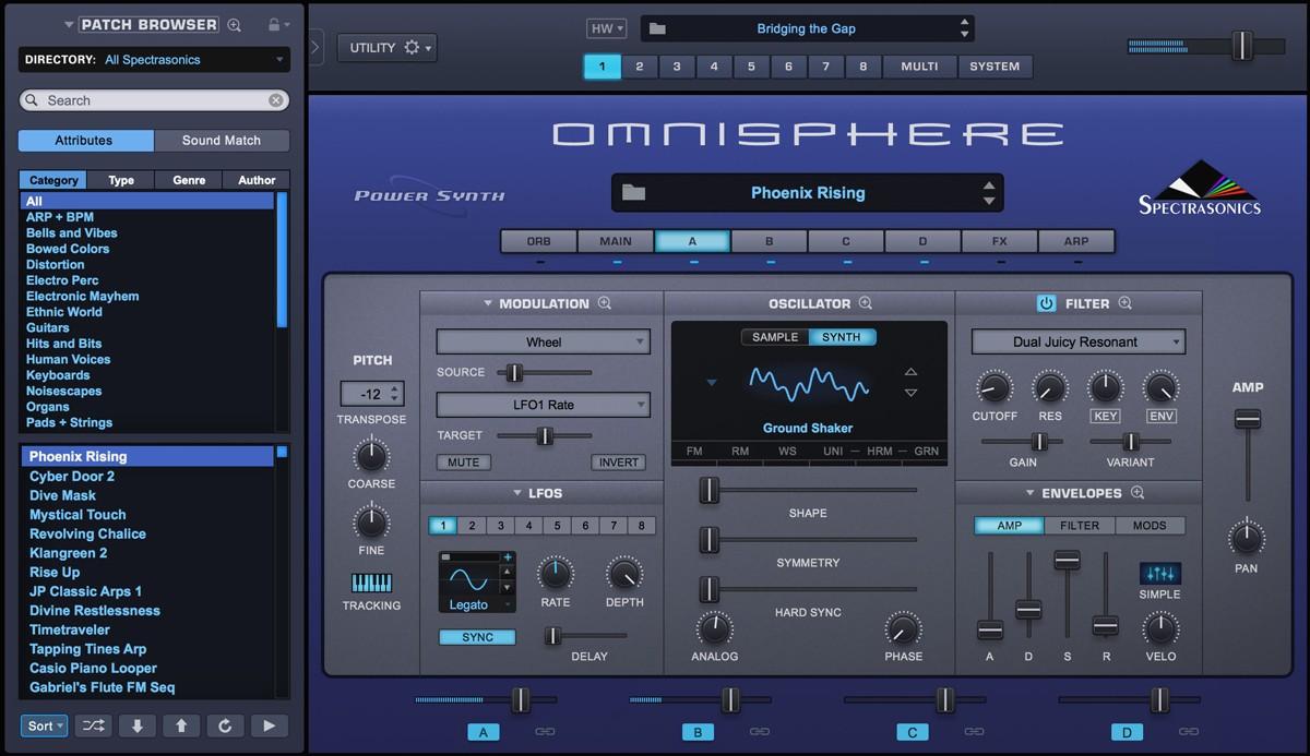 Omnisphere 2 GUI