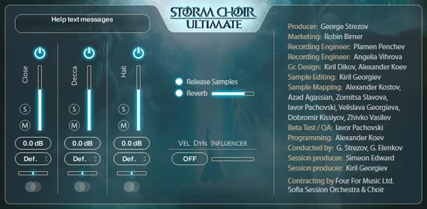 Storm Choir Ultimate FX GUI