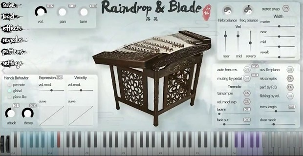 Raindrop & Blade GUI Screen