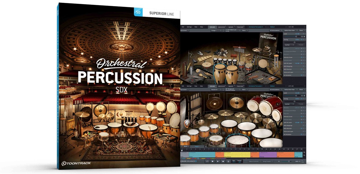 Orchestral Percussion Box and Screen