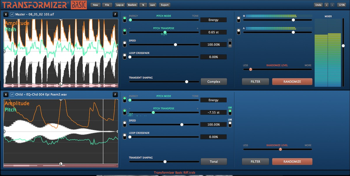 Transformizer Basic GUI