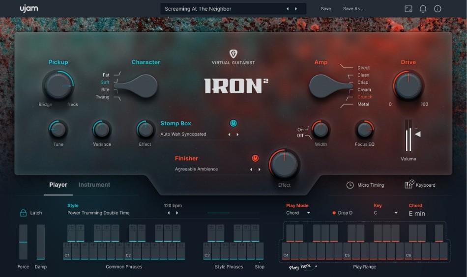Ujam Virtual Guitarist Iron 2 Gui