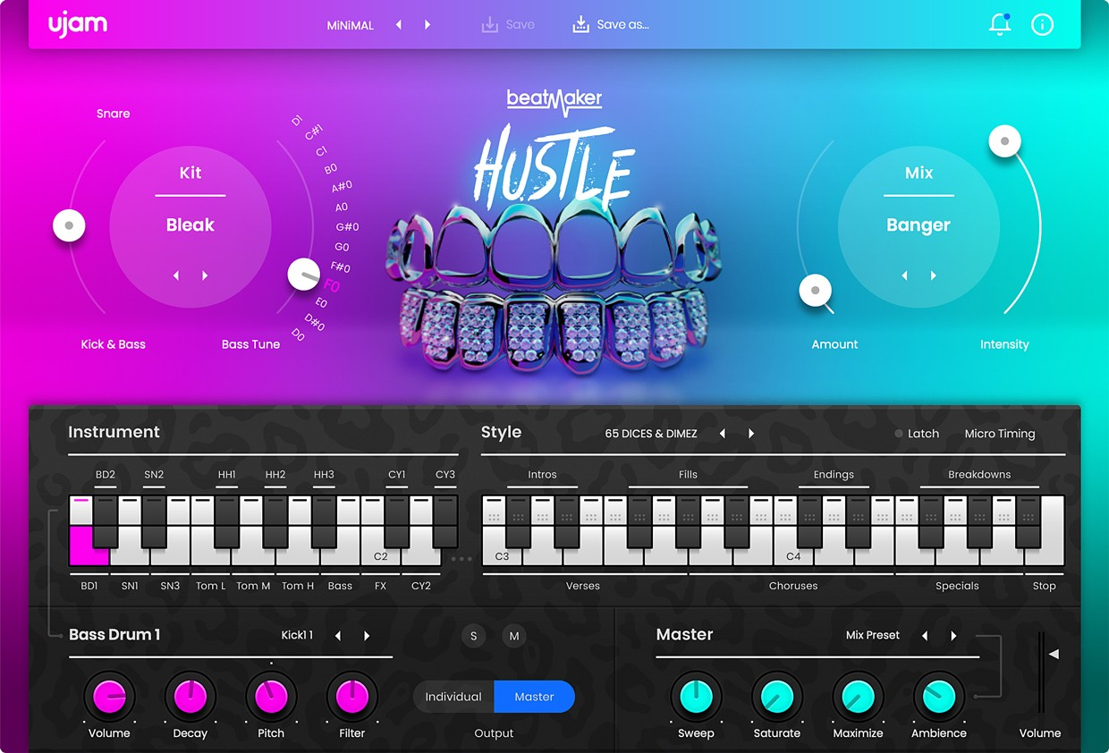 BeatMaker 2 Hustle GUI