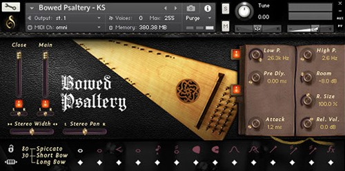 Bowed Psaltery GUI