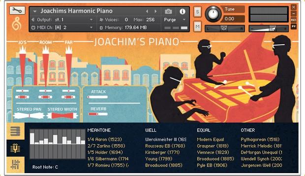 Joachims Piano GUI 2